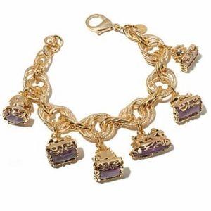 Jewelry - Gorgeous Amethyst Charm Bracelet